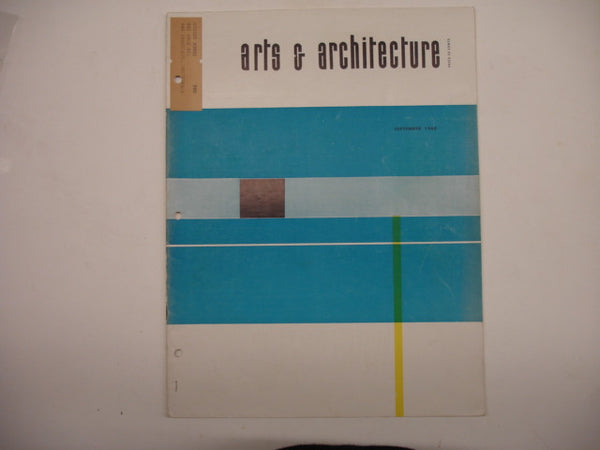 Book: Arts & Architecture, September 1960