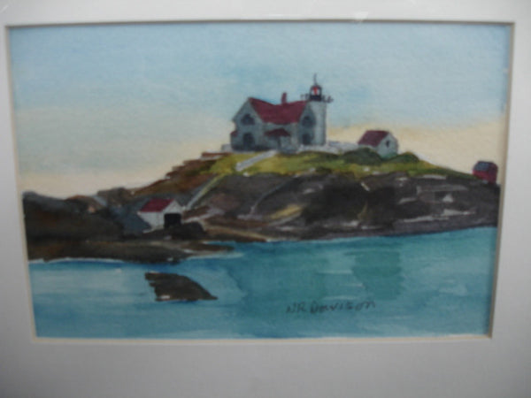 ART: W/C # 1 by Nancy Davison, Lighthouse