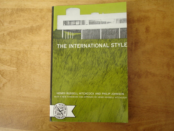 Book:The International Style by Johnson and Hitchcock
