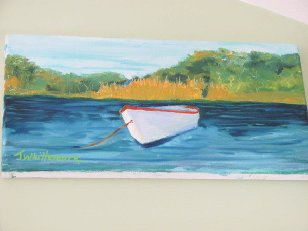 Art: O/C Rowboat Jane Whittemore, Cape Cod Artist