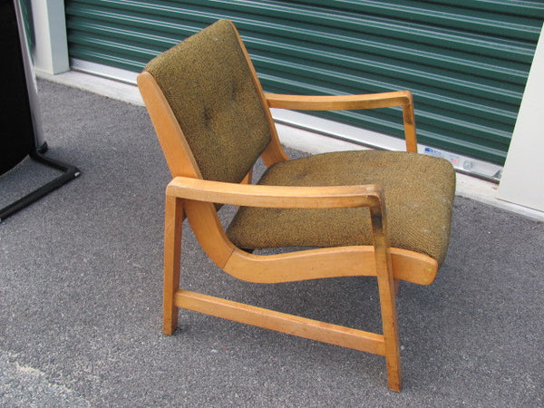 Chair: Early Jens Risom Cushioned Lounge Knoll  - SOLD
