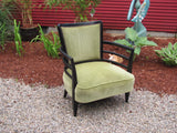 Chair: Deco Style Lounge Chair, French  - SOLD