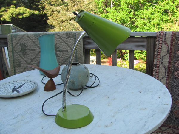 Lighting: Vintage 60's Task Light Lime Green