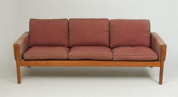 SEATING: Hans Wegner Sofa AP63 for A P Stollen Teak and Upholstery  - SOLD