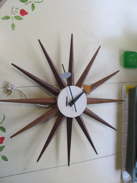 Clock: Vintage George Nelson Spike Clock for Howard Miller   SOLD