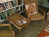 Seating:  Pair of Rattan Lounge Chair by YAMAKAWA RATTAN of Tokyo 1950s