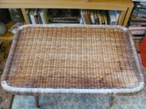 Table: Pair of Rattan Occassional Tables by YAMAKAWA RATTAN of Tokyo, Japan