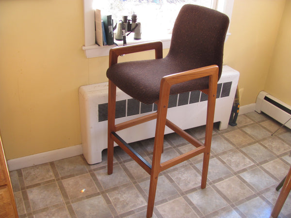 Pair of Teak Bar Stools, Danish Modern, Tarm Stole O/G. Pair #3.