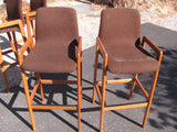 Pair of Teak Bar Stools, Danish Modern, Tarm Stole O/G. Pair #2.