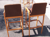 Pair of Teak Bar Stools, Danish Modern, Tarm Stole O/G. Pair #1.