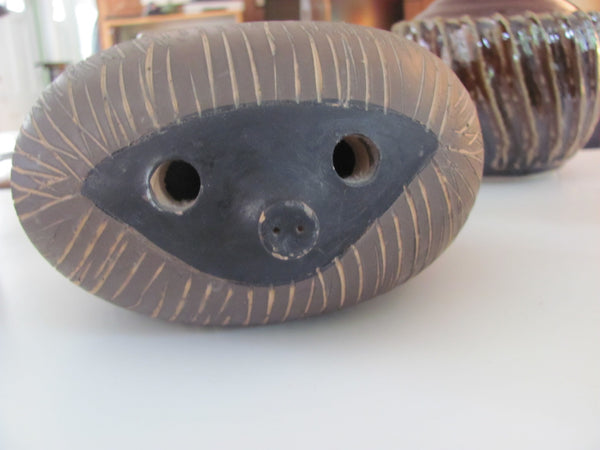 Pottery: Aldo Londi for Bitossi Hedgehog Ceramic Sculpture.   _  SOLD