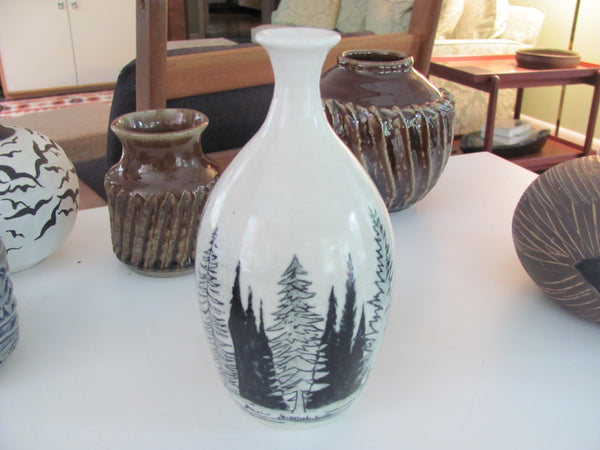 Ceramics: F. Carlton Ball Forest Landscape Vase