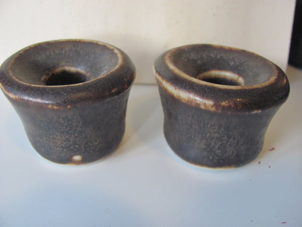 Pair of Saxbo Denmark Candleholders by Edith Sonne. Free shipping in the USA.