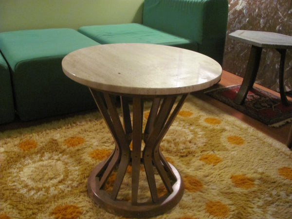 Table: Wormley Style Marble Top Side Table - SOLD