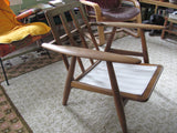 Chair: Cigar Chair by Hans Wegner for Getama in teak and wool. REDUCED