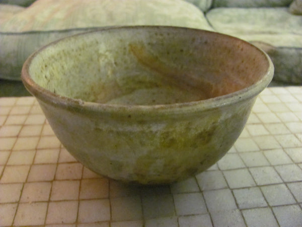"Ceramics: Toshiko Takaezu bowl 6"" diam. x 3.38"" high."