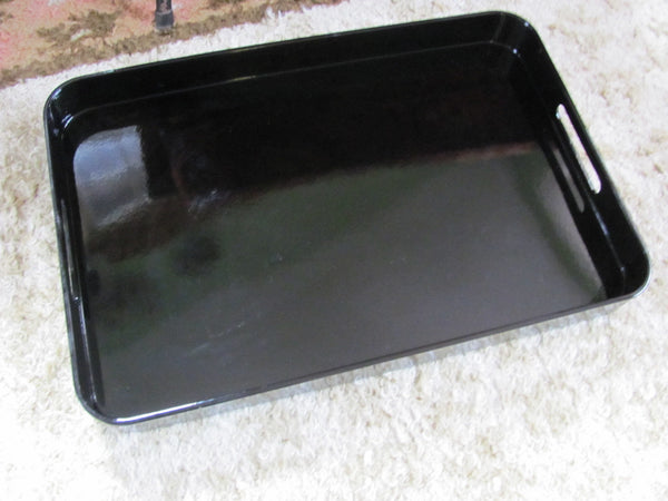 Plastic: Pottery Barn Tray - Black
