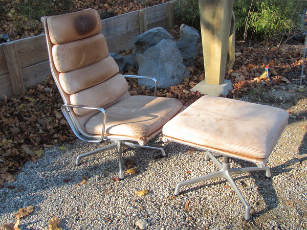 Chair: Eames Soft Pad Lounge Chair and Ottoman Herman Miller