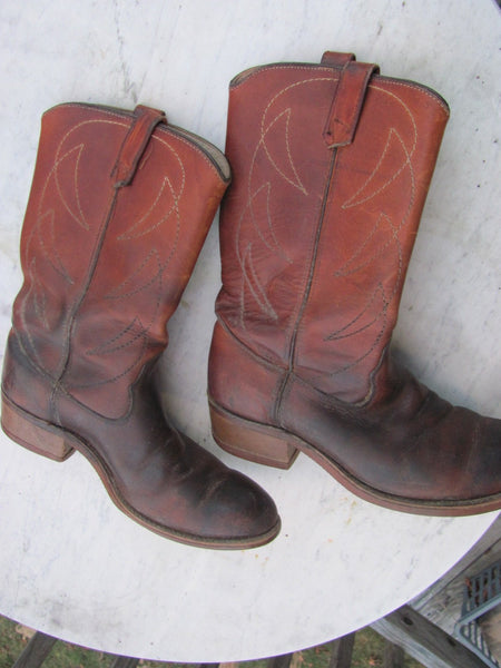 Clothes: Vintage Men''s Leather Boots - 10 D