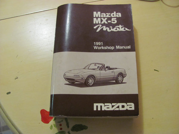 SOLD   - Book: 1991 Mazda Miata Workshop Manual  - SOLD
