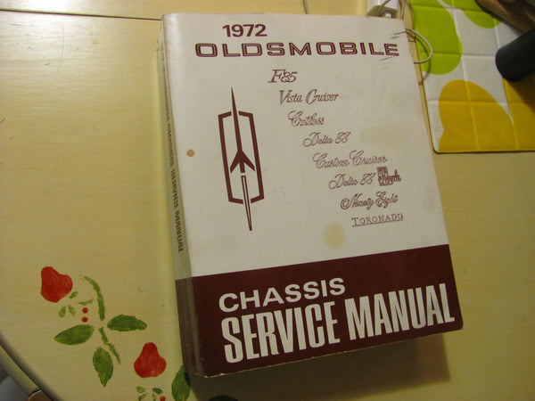 Book: 1972 Oldsmobile Chassis Service Manual