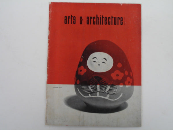 Book: Arts & Architecture, Feb. 1954. Original Issue.