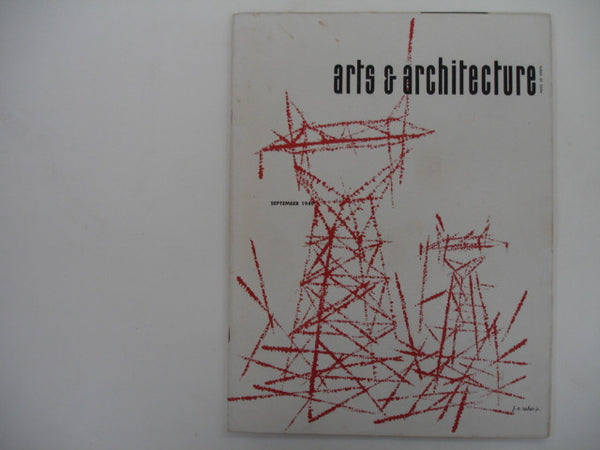 MAGAZINE: Arts & Architecture, Sept 1949. Free shipping in USA.