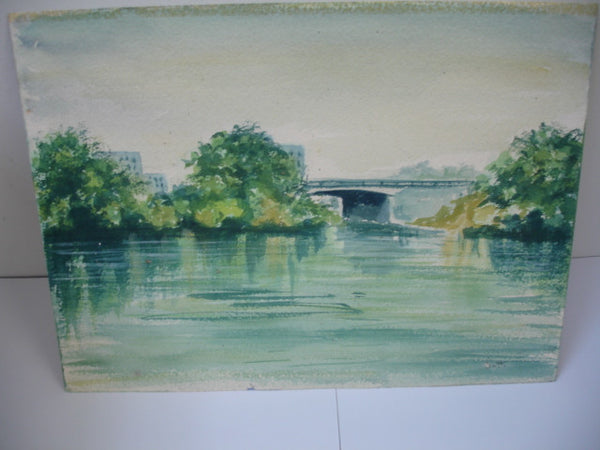 ART: w/c Landscape Bridge