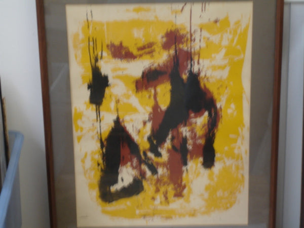 print- Abstract Yellow / Brown