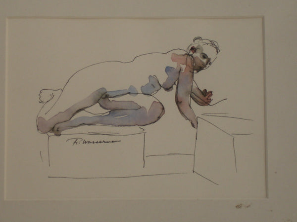 ART: Ruth Wasserman, W/C, Nude