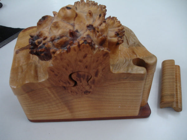 Wood: Carved Burl Puzzle Box