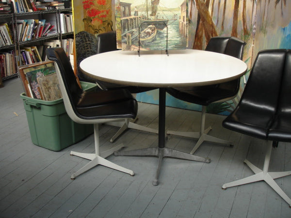"TABLE: Eames for Herman Miller 48"" Round Aluminum Group Table"