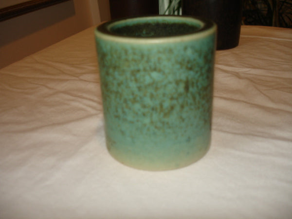 Ceramics: A Saxbo Round Green Ceramic Vase, Free Shipping in the USA.