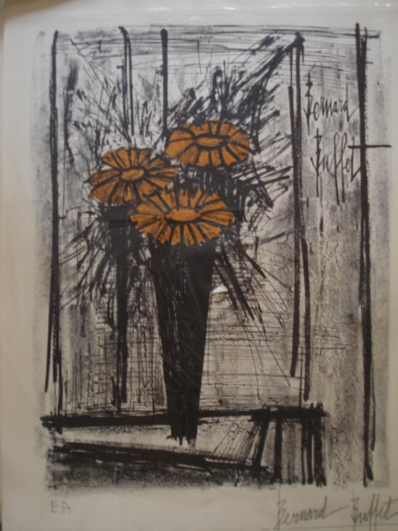 Art: Bernard Buffet color Litho