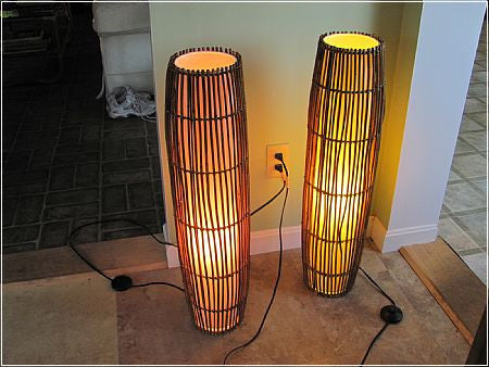 Lighting: Pair of Floor Lamps   -  SOLD