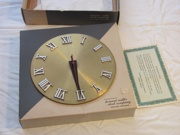 Howard Miller CLOCK IN A BOX.  Designed by George Nelson