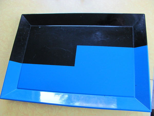 Tray: Black and Blue Lacquered Tray