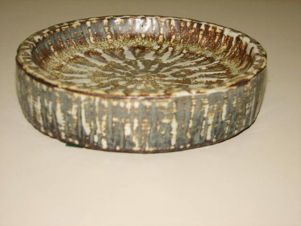 Ceramics: Gunnar Nylund Owls Feather Glazed Dish