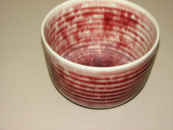 "Ceramics: Brother Thomas Large 9"" Diameter Bowl with Oxblood Glaze  - SOLD"