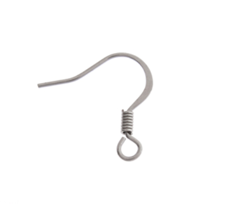100pcs - Slender Fish Hook Findings - Surgical Steel