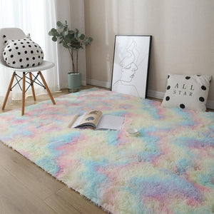 Colorful Fluffy Carpet Rugs