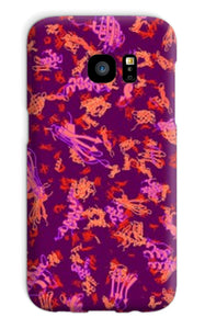 Protein structure (cherry) Phone Case