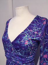 Load image into Gallery viewer, Indigo Neurons Cotton Wrap Dress - Boutique Science