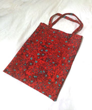 Load image into Gallery viewer, Red neurons heavyweight canvas tote bag