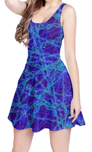 Blue genetic editing cotton tennis dress - Boutique Science