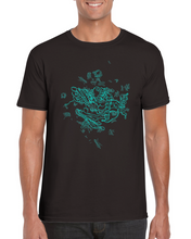 Load image into Gallery viewer, Blue secondary protein structure T-shirt - Boutique Science