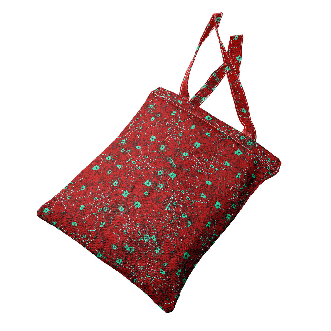 Red neurons heavyweight canvas tote bag - Boutique Science