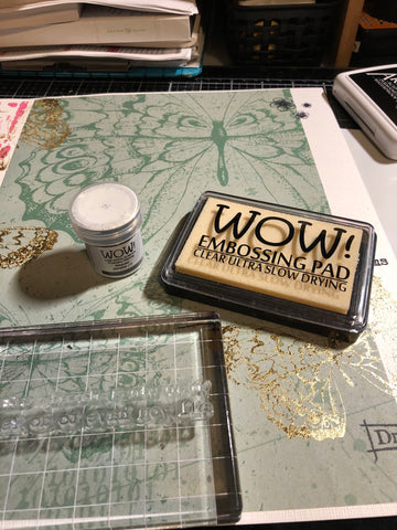 embossing powder and WOW embossing pad
