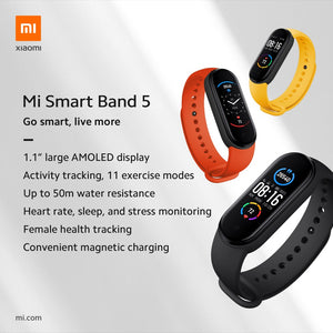 Xiaomi MI Band 5 comes with 11 professional sports modes The more you move, the more weight you lose