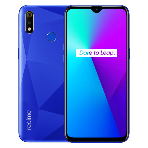Realme 3i's Diamond cut texture is made from laser engraving.